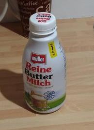 Buttermilchflasche von MüllerMilch